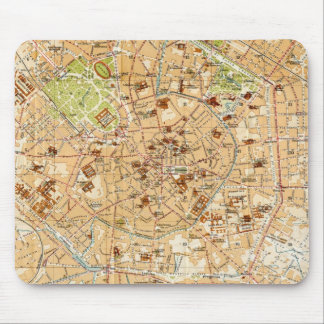 Vintage Map of Milan Italy (1914) Mouse Pad