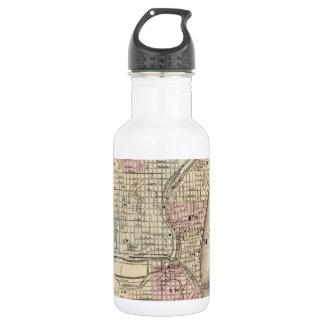 Vintage Map of Milwaukee (1880) 18oz Water Bottle