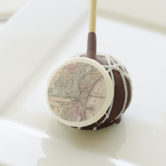Vintage Map of Milwaukee (1880) Cake Pops
