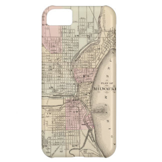 Vintage Map of Milwaukee 1880 iPhone 5C Cases
