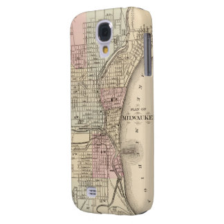 Vintage Map of Milwaukee (1880) Galaxy S4 Cases