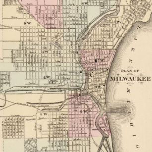 Vintage Milwaukee Map Gifts On Zazzle - Vintage milwaukee map