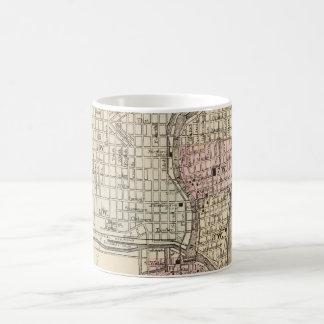 Vintage Map of Milwaukee (1880) Classic White Coffee Mug