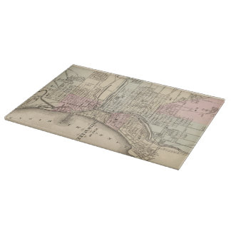 Vintage Map of Milwaukee (1880) Cutting Boards