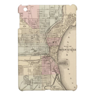 Vintage Map of Milwaukee 1880 Case For The iPad Mini
