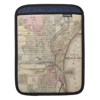 Vintage Map of Milwaukee 1880 iPad Sleeve
