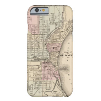 Vintage Map of Milwaukee 1880 iPhone 6 Case