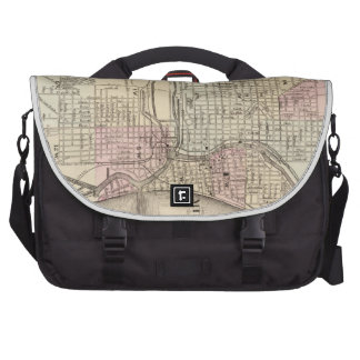 Vintage Map of Milwaukee 1880 Commuter Bags