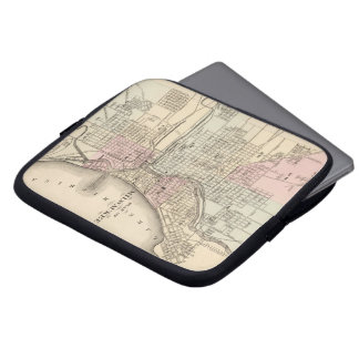 Vintage Map of Milwaukee 1880 Laptop Sleeves