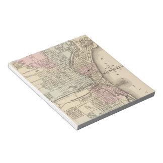 Vintage Map of Milwaukee 1880 Notepad