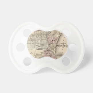 Vintage Map of Milwaukee 1880 Pacifier