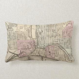 Vintage Map of Milwaukee 1880 Pillows