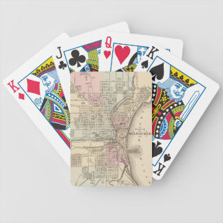 Vintage Map of Milwaukee 1880 Poker Cards