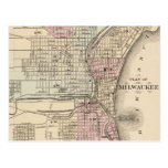 Vintage Map of Milwaukee (1880) Post Cards