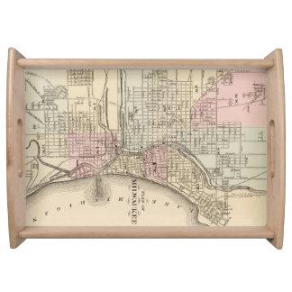 Vintage Map of Milwaukee (1880) Serving Platter