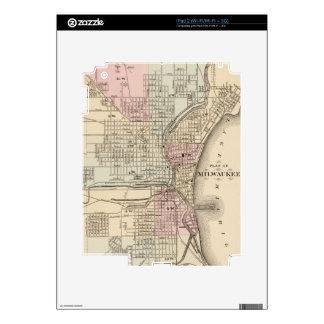 Vintage Map of Milwaukee 1880 iPad 2 Decal