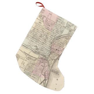 Vintage Map of Milwaukee (1880) Small Christmas Stocking