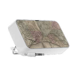 Vintage Map of Milwaukee 1880 Portable Speakers
