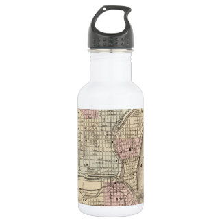 Vintage Map of Milwaukee (1880) Stainless Steel Water Bottle