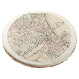 Vintage Map of Milwaukee (1880) Sugar Cookie