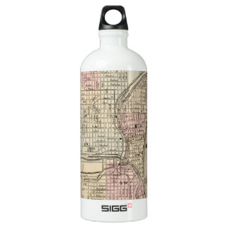 Vintage Map of Milwaukee (1880) Water Bottle