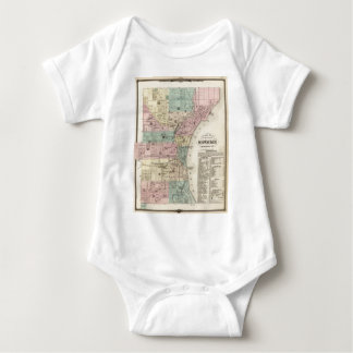 Vintage Map of Milwaukee Wisconsin (1878) Baby Bodysuit