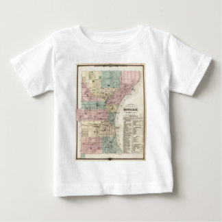 Vintage Map of Milwaukee Wisconsin (1878) Baby T-Shirt