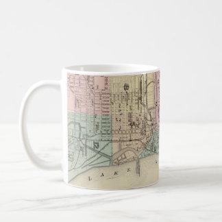 Vintage Map of Milwaukee Wisconsin (1878) Coffee Mug