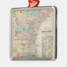 Vintage Map Of Milwaukee Wisconsin (1878) Metal Ornament at Zazzle