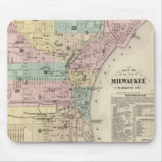 Vintage Map of Milwaukee Wisconsin (1878) Mouse Pad