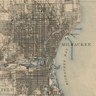 Milwaukee Posters Photo Prints Zazzle - Vintage milwaukee map