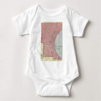 Vintage Map of Milwaukee Wisconsin (1903) Baby Bodysuit