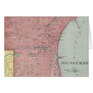 Vintage Map of Milwaukee Wisconsin (1903) Card