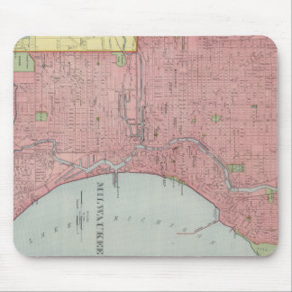 Vintage Map of Milwaukee Wisconsin (1903) Mouse Pad