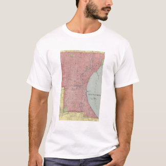 Vintage Map of Milwaukee Wisconsin (1903) T-Shirt