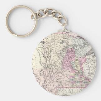 Vintage Map of Minnesota (1855) Basic Round Button Keychain