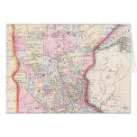 Vintage Map of Minnesota (1864) Greeting Card