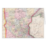 Vintage Map of Minnesota (1864) Greeting Cards