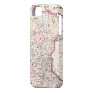 Vintage Map of Minnesota (1864) iPhone 5 Covers