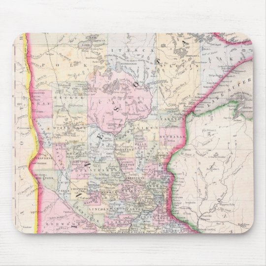 Vintage Map of Minnesota (1864) Mouse Pad