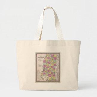 Vintage Map of Mississippi (1853) Tote Bag