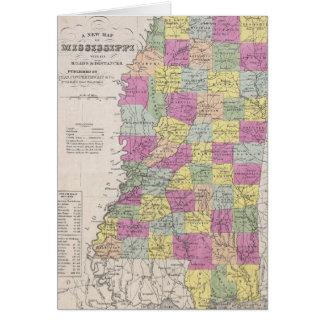 Vintage Map of Mississippi (1853) Greeting Card