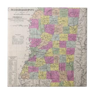 Vintage Map of Mississippi (1853) Ceramic Tile