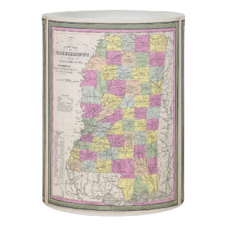 Vintage Map of Mississippi (1853) Flameless Candle