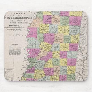 Vintage Map of Mississippi (1853) Mouse Pad