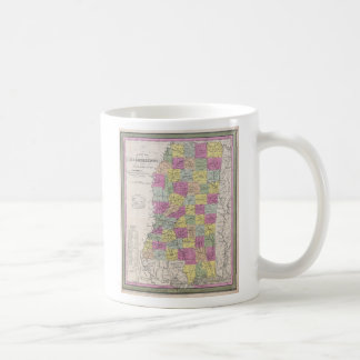 Vintage Map of Mississippi (1853) Classic White Coffee Mug