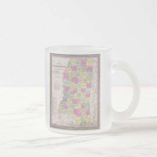 Vintage Map of Mississippi (1853) Mugs