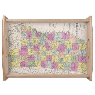 Vintage Map of Mississippi (1853) Serving Tray
