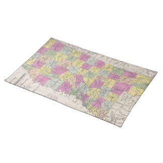 Vintage Map of Mississippi (1853) Cloth Placemat