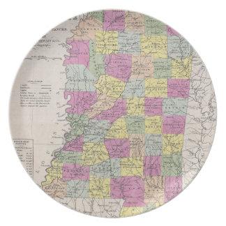 Vintage Map of Mississippi (1853) Plates